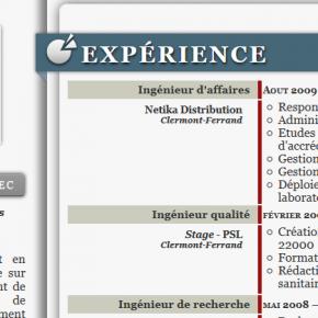 CV - html5 et CSS3
